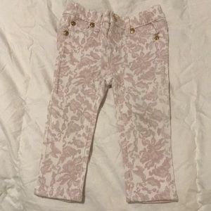 Kids 7 For All Mankind Floral Skinny Jeans 18M